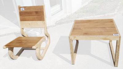 Up cycling et conception de mobilier