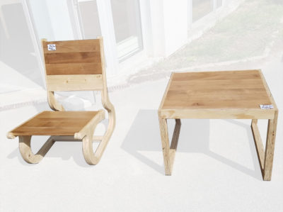 Up cycling et conception de mobilier